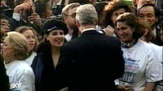 BILL CLINTON, HUGGING MONICA LEWINSKY, AMERICA - 1998